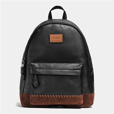 COACH Modern Varsity Campus Backpack In Pebble Leather in