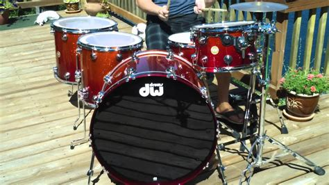 Justin Nelson - DW Collectors Drums - Tangerine to Blood