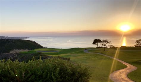 Torrey Pines South Hole #3 paired with San Diego sunset
