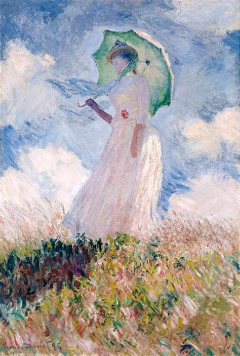 Woman with a Parasol, Turned to the Left by MONET, Claude
