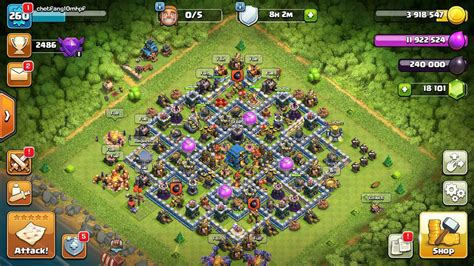 Sell Coc Town Hall 12 Max CODE 444 - ClashCenterORG - Buy