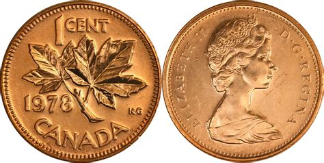 Coins and Canada - 1 cent 1978 - Canadian coins price
