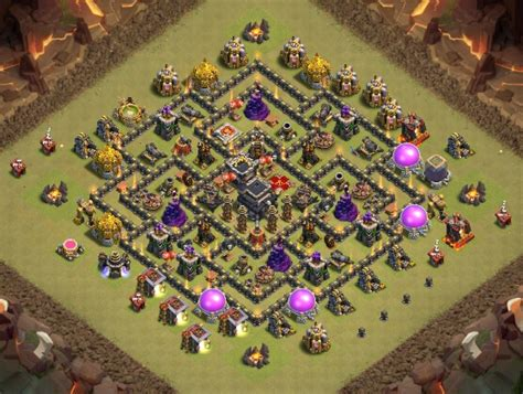 Clash of Clans Bases war for Town Hall 9 ClashTrack
