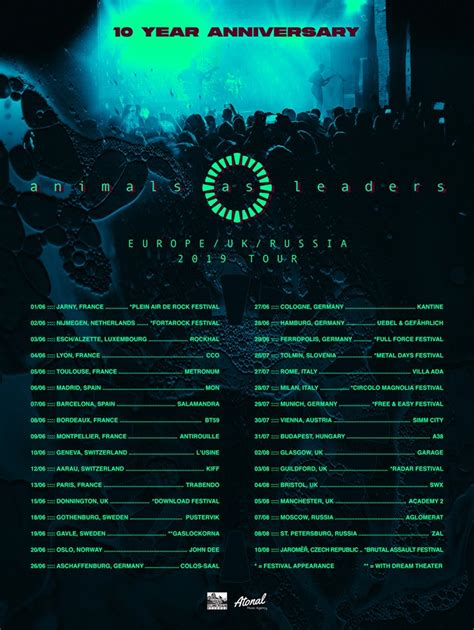 Animals As Leaders - Tour 2019 - 09/06/2019 - Montpellier