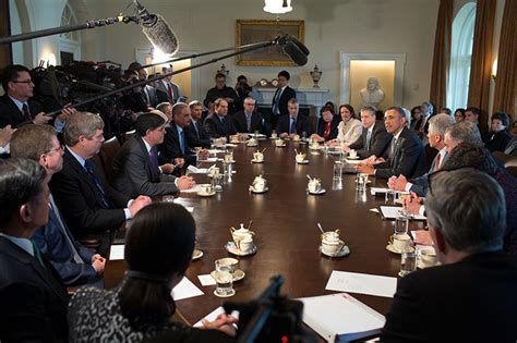 President Obama Holds First Cabinet Meeting of Second Term