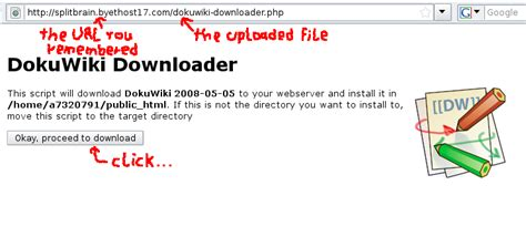 Setup DokuWiki on Free Hosting in