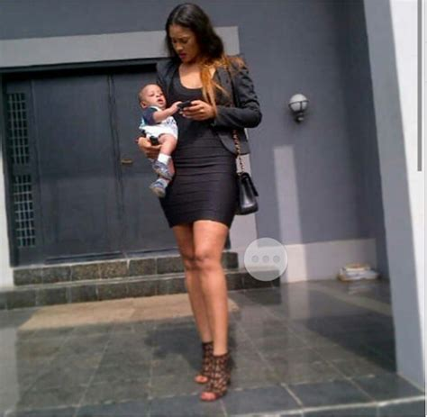 Flavour Posts Picture of Daughter With Baby Mama Sandra
