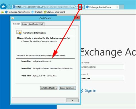 Exchange: Create a PFX Certificate and Import a Private