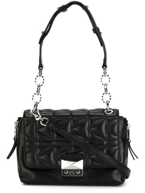 Karl Lagerfeld Quilted Crossbody Bag in Black - Lyst